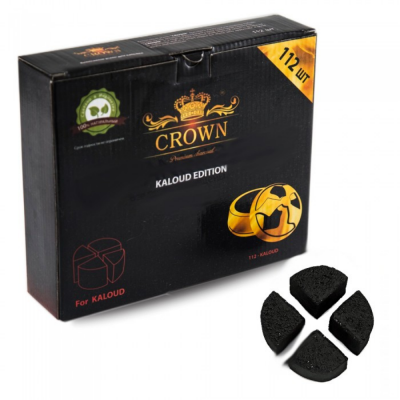 Уголь Crown Kaloud Edition (112шт) под калауд