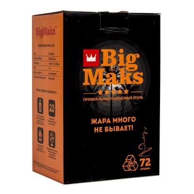 Уголь для кальяна  кокосовый Big Maks 72 кубика (25мм)