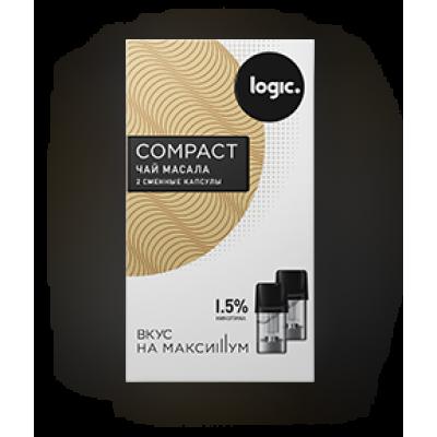 Картридж JTI x2 Logic Compact 1.6мл 1,5мг (Чай масала)
