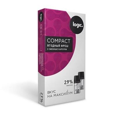 Картридж JTI x2 Logic Compact 1.6мл 2,9мг (Ягодный фреш)