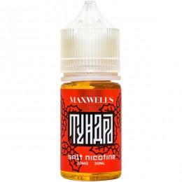 Жидкость Maxwells Salt Тундра (Максвелс Красная Рябина, Можжевельник, Мята Солт)  30мл 20мг