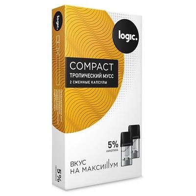 Картридж JTI x2 Logic Compact 1.6мл 5мг (Тропический мусс)
