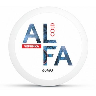 Жевательная смесь ALFA Cold Черника / Снюс Альфа Черника