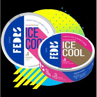 Жевательная смесь Fedrs Energy 8 Ice cool / Снюс Ай кул Федрс Энергетик